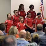 Vista Elementary students sing during board meeting