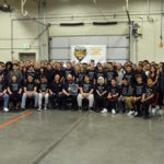 Hunter High auto students gathered in shop