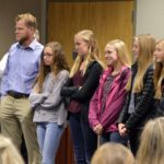 Skyline High cross country team being recognized at board meeting