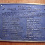 A memorial plaque inside Granite Park Jr High