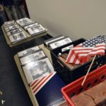 Folders and bricks on display for family members of fallen soldiers