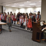 Taylorsville Elementary students perform during board meeting
