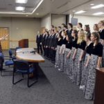 Taylorsville madrigals perform at board meeting