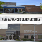 West Valley Elementary and Woodstock Elementary with text 'New Advanced Learner Sites'
