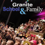 Cottonwood High musical cast with text 'Granite School & Family Magazine'