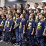 Valley Crest students sing at board meeting