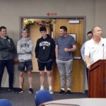 Olympus High basketball team being recognized at board meeting