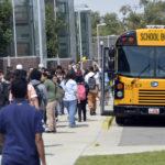 Granger High students boarding bus