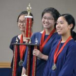 Skyline High MESA members hold trophy