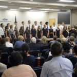 Kearns High Madrigals sing at board meeting
