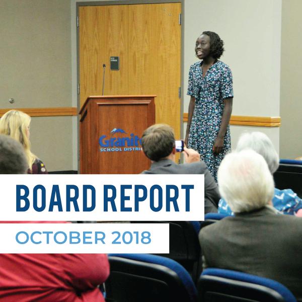 Board Report – October 2018