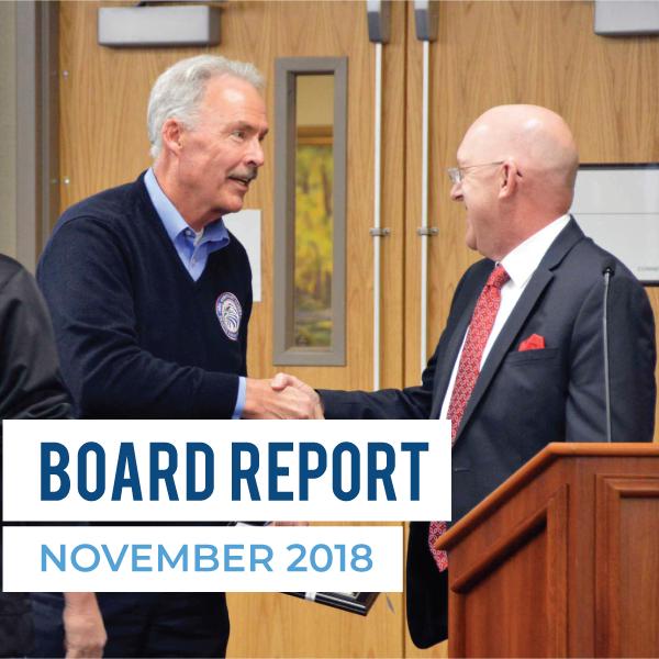 Board Meeting Report – November 2018