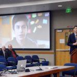 Granite Park principal addressing the board of education