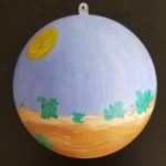 Evergreen Christmas tree ornament
