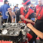 Hunter High students building engine