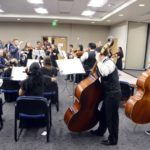 Cyprus High orchestra preforms at board meeting