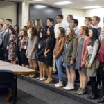 Academic all state athletes being recognized at board meeting