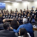 Rosecrest Elementary choir performs during board meeting