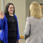 Nicole McDermott takes the Oath of Office