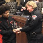 Granger High student receives Courageous citizen Award