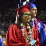 Granger High students at graduation ceremony