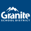 Granite School District logo on blue background