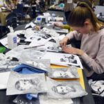Students painting and drawing