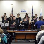 Matheson Jr High jazz band performs during board meeting