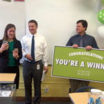 Excel Award teacher is recognized in classroom