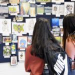 Granite Connection students peruse artwork
