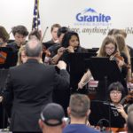 Granite Youth Symphony performs at board meeting