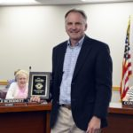 Craig Hall recognized at board meeting