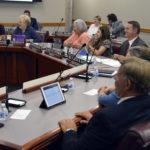 Board members at board meeting