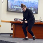 Cottonwood student performs pantomime at board meeting