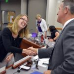 Cottonwood High teacher shakes hands with superintendent