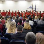 Magna Elementary students sing during board meeting
