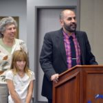Driggs Elementary principal, teacher and student address board members
