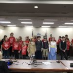 Crestview Elementary students perform during board meeting