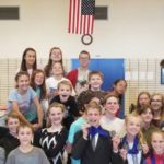 Churchill students pose with teacher
