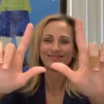 Woman using ASL gestures