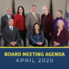 Granite Board of Education and text 'Board Meeting Agenda April 2020'