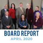 GSD Board of Education and text 'Board Report April 2020'