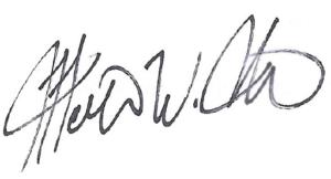 Martin Bates signature