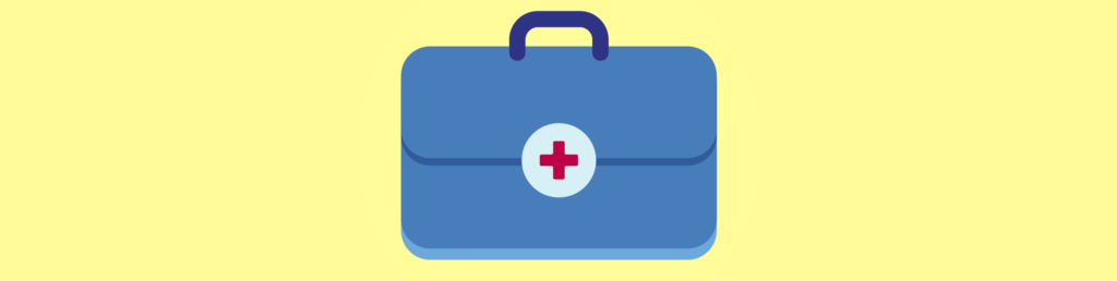Vector drawing of medical bag