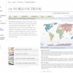 Featured Resource: The CIA World Factbook