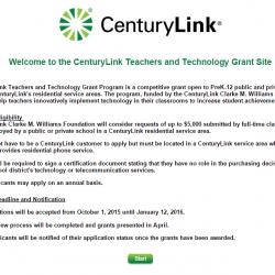 Grant: CenturyLink Teachers and Technology Grant Program