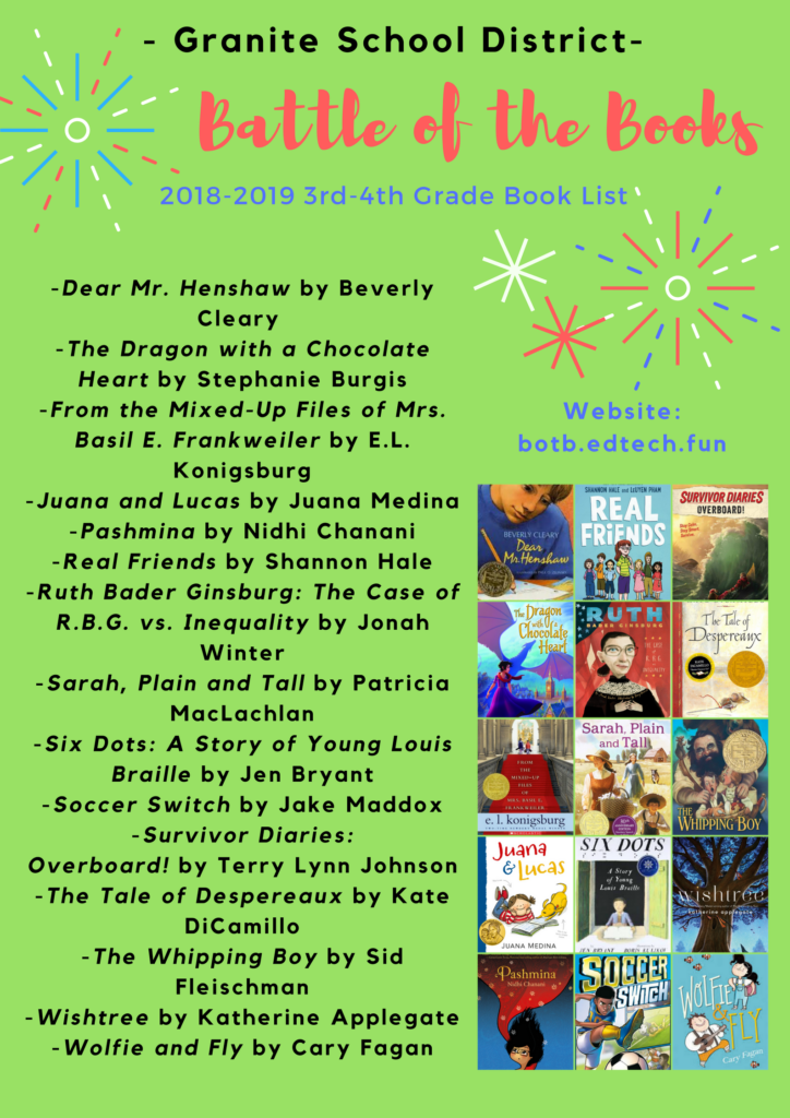 2018-2019-Granite-Battle-of-the-Books-3rd-4th-Grade-Book-List-724×1024