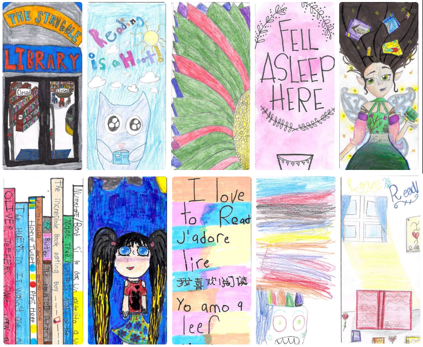 2018 Student Bookmark Designs from Valley Crest Elementary