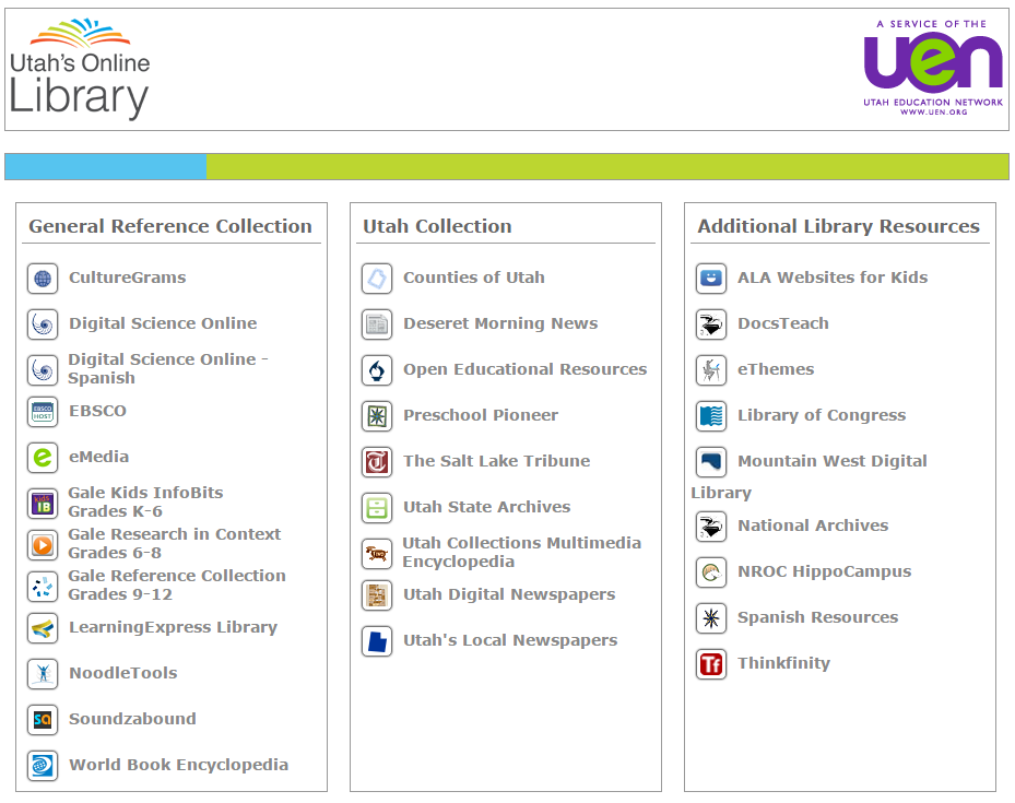 Utah's Online Library - Screenshot