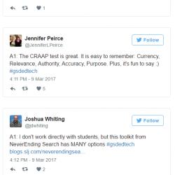 #GSDEdTech Teacher Chat Archive — Information Literacy (3/9/2017)